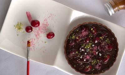 蔓越莓黑巧克力塔