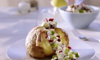 Cranberry Dip Baked Potato
