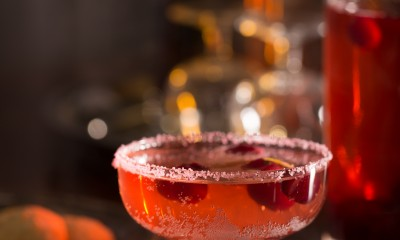 Cranberry Champagne Spritzer