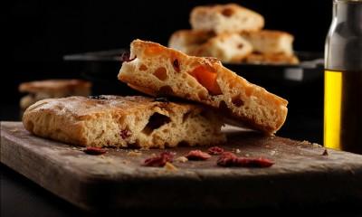 蔓越莓迷迭香意式手工面包